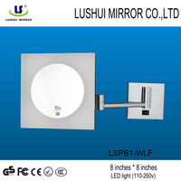 Magnifying LED wall bathroom cosmetic LED wall hercules mirrors