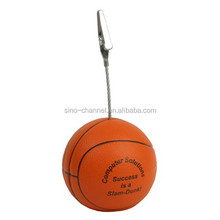 Hotsale mini novelty Basketball Memo Holder stress ball