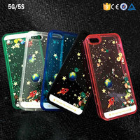 alibaba quicksand bling stars transparent crystal case for iphone 5G 6G 6P