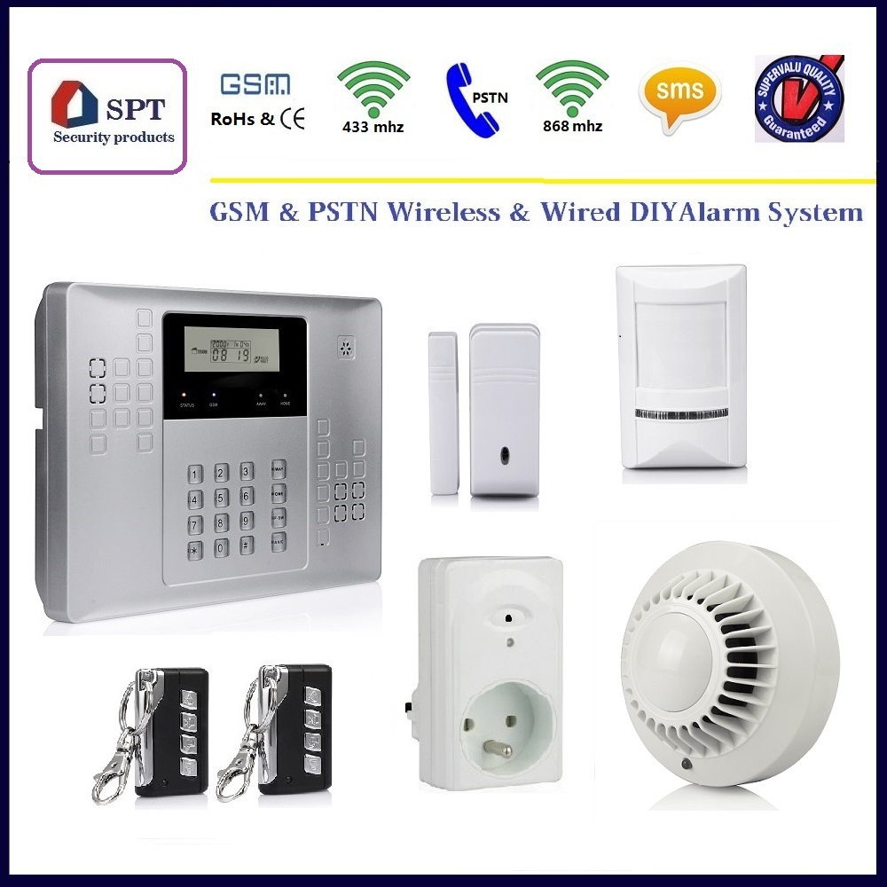 Alarm system with tamper switch self monitoring gsm alarm for Self security system