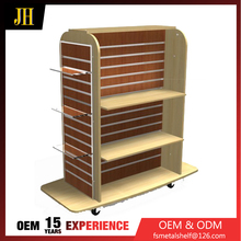 4 way gondola metal and melamine mdf for display stand