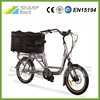 26 Inch Mid Drive Electric Cargo Bike with LCD Display 500W 48V SP26EGB-L
