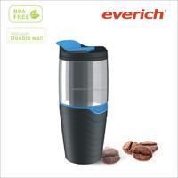 16oz insulated plastic inner and ss outside travel mug,coffee mug,thermo mug