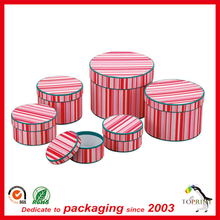 flat adge round box paper tube with custom pink printed clothing packaging tube storage gift box set various kinds of size tube