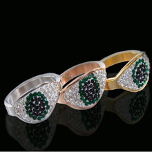 New Products fashion Wholesale Brand Stainless Steel Cat Eye stone Rings