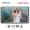 Open frame metal bus led digital photo frame 15 inch