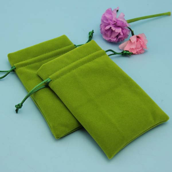 Wholesale Green Velvet Dice Bag with Sateno Lining