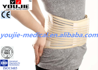 Tourmaline Elastic Back Support Brace Waist Belt with Velcro