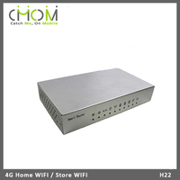 Metal shell home WIFI router built-in 4G module with 3 LAN port & 1 WAN port --- H22