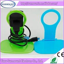 Creative Smart phone wall charging hanging holder, PC light mobile phone holder