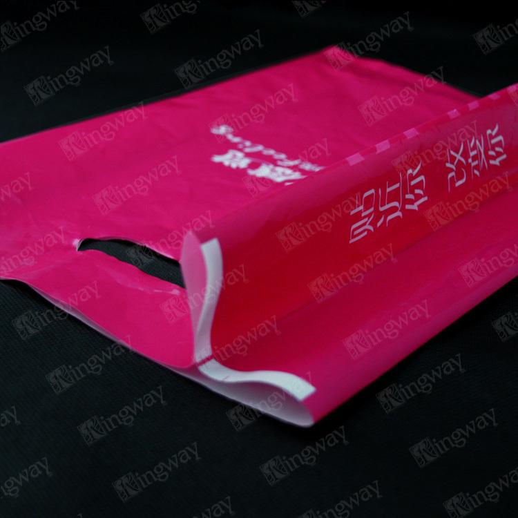 Baratos por atacado de 75 mícrons ldpe personalizado designer de impressão colorida de plástico fantasia pe cortou o saco de compras reutilizável