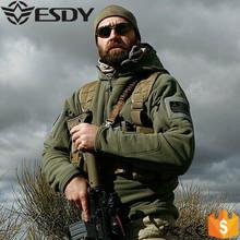 Tático militar Soft Shell velo capuz Jacket Men caça Sportswear jaqueta esporte Hoodies