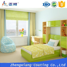 Pure acrylic based decorative coating and painting system with bright finish