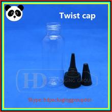 New design 30ml plastic twist caps bottles pet dripper bottles 30ml PET bottles sharp caps 30ml with CE certificate