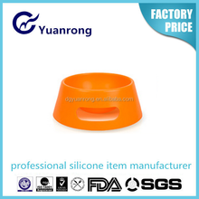 Convenient Foldable Eco-friendly Silicone Dog Water/Food Bowl