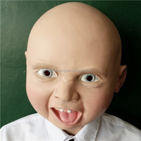 Alibaba Express Celebration Realistic Cute Latex Baby Mask for Carnival