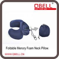 Folding Memory Foam Travel Neck Pillow