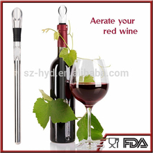 stainless steel instant wine chiller bpa free and reusable wine pouer metal wine chiller stick