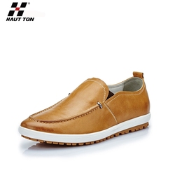 Handsome men fashion footwear casual shoes leather casual shoes sole
