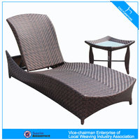 U Outdoor rattan furniture stackable beach chaise lounge (CF80)