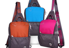 Sport chest bag pack / girls hiking small one strap sling bag