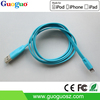 For iphone 5 flat MFi cable 1m genuine mfi certified 8 pin usb cable for iphone 6/ipad mini 2 support ios8