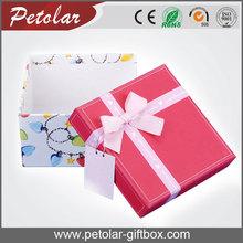 2015 sujetador elegante cuadrados cajas de almacenaje de la ropa interior