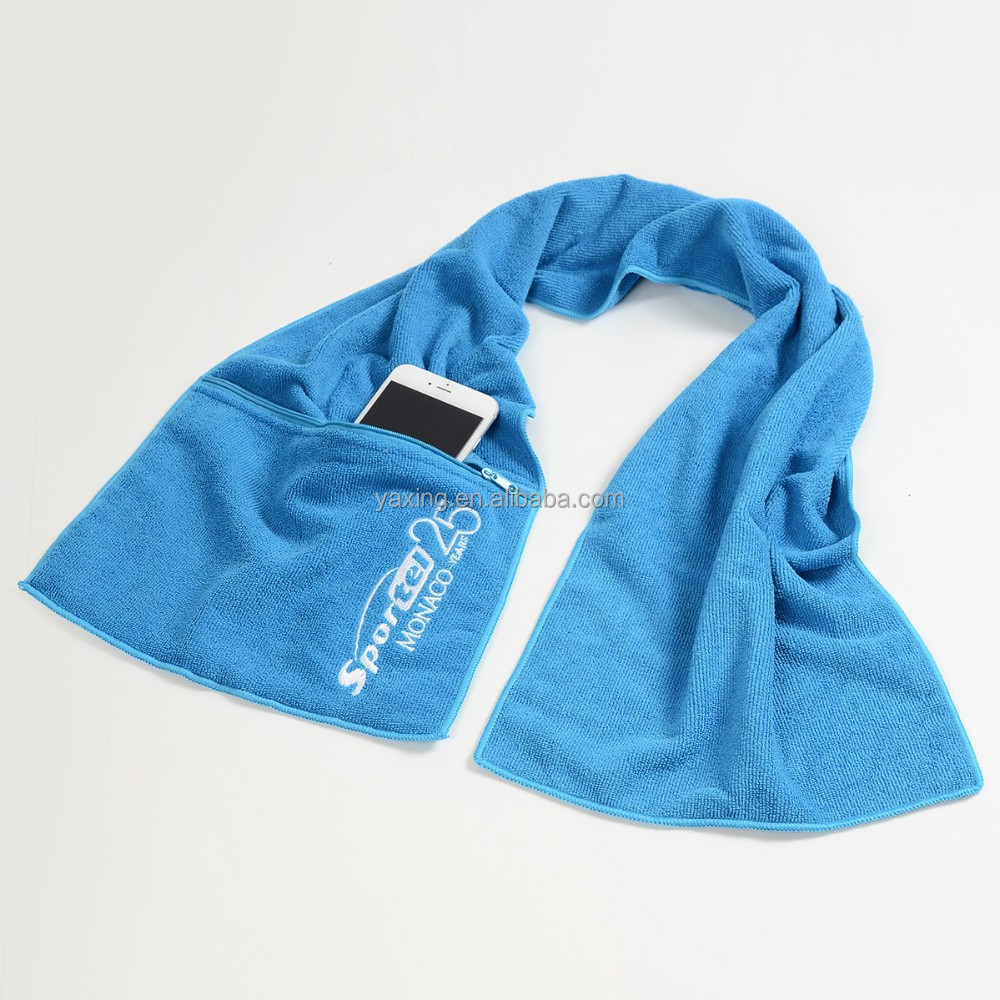Microfiber Gym Towel With Zip: China Supplier Of Microfiber Gym Towel With Zip Pocket