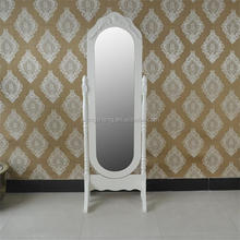 hot sale wood frame free standing cherry dressing mirror OEM