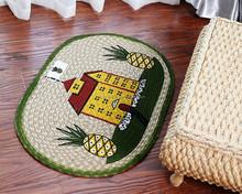 printed house jute braided rug
