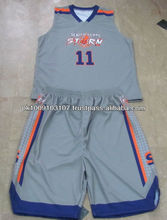 Custom Design Polyester Dye Sublimated Basketball Uniforms
