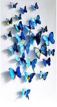 Room Butterfly Decoration colorful Living room bedroom 3D Butterfly Wall sticker PVC Wall paster sticker 12 pcs/pack factory pri
