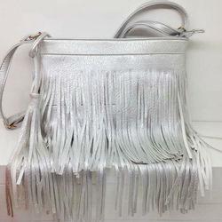 2015 Fashion Women Silver tassel Handbags bags Pu Leather Shoulder Bag Ladies Bags