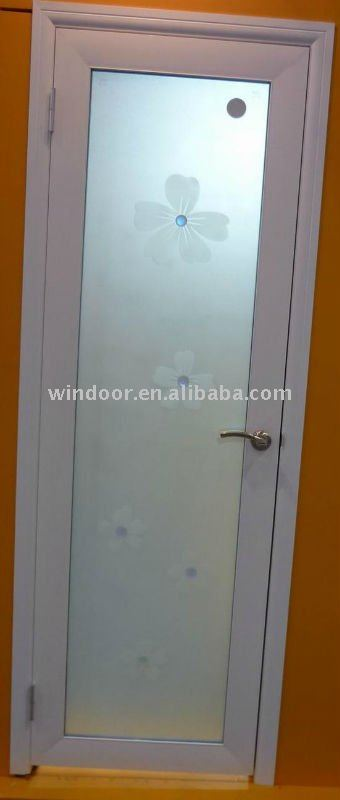 pvc frosted glass bathroom door