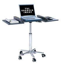 Height Adjustable Laptop Table Folding Flexible Laptop Stand On Wheels