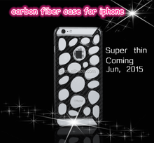 Luxury For iPhone 6 Gloss & Matte Carbon Fiber Cell Phone Skin Back Cover Case