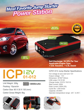 Emergency road kit 12v/24v portable jump start with tire pressure