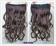 High Heat Resistant Synthetic Hair Material clip-in extensions