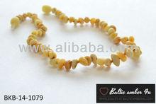 Baltic amber teething necklace for baby exclusive jewelry half baroque unpolished matt