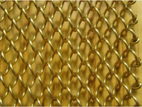 honeycomb decorative metal drapery/wire mesh for window or room divider
