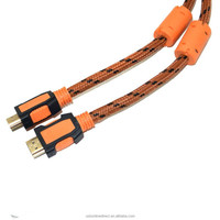 Wholesale HDMI 2.0 Cable 1080P 4K*2K 3D Ethernet 2.0V HDMI Male to Male Cable Gold Plated 1M,2M,3M,5M ,7M,10M ect Black+orange
