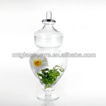 different types glass flower vase with foot