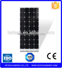 Cheap solar panels china 130W mono solar panels with high effiency and full certificates