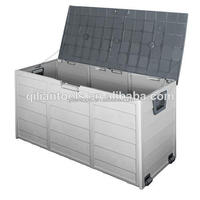 NEW Plastic Outdoor Storage Box Container Weatherproof Grey