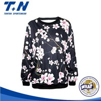 all over print 100% polyester sweatshirt without hood