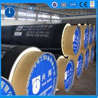 Small diameter polyurethane foam insulated pipe with api5l carbon seamless steel pipe and rigid foam filled