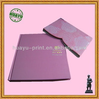 Full color Custom hardcover book printing with slip envelope