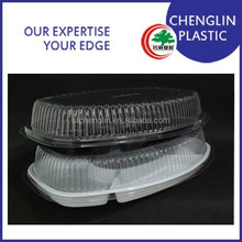 most popular plastic food compartment tray