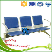 3 seater public chair stainless steel waiting chair