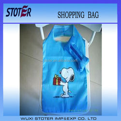New recycle fold up bone polyester tote bag